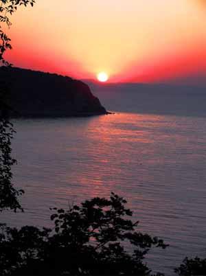 Закат в Новомихайловском