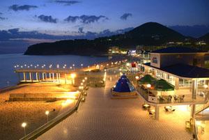 Ночной пляж Туапсе